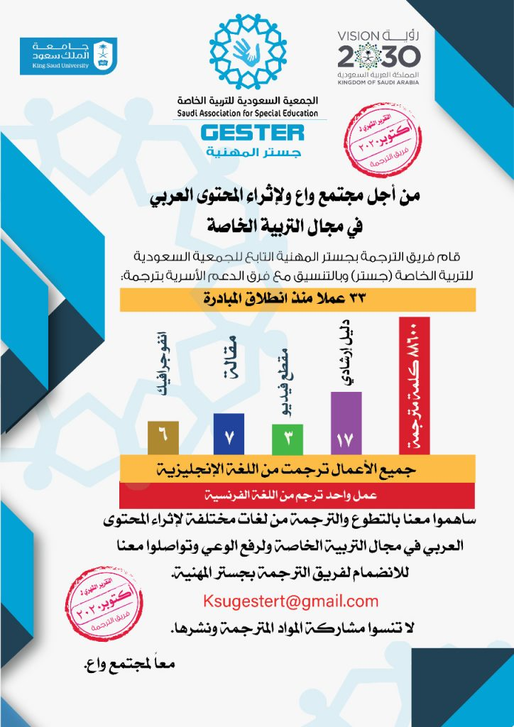 مبادرة إثراء للترجمة تقرير أكتوبر 2020